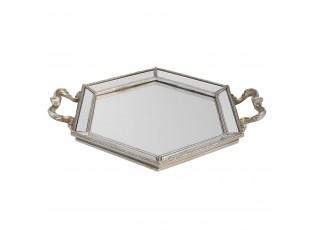 Kovový podnos se zrcadlem - 34*29*4 cm