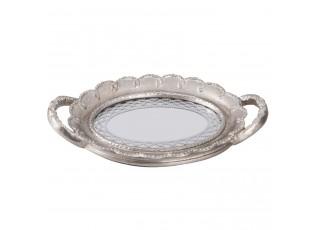 Oválný tác se zrcadlem - 26*17*3 cm