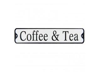 Kovová cedule Coffee & Tea - 51*11 cm