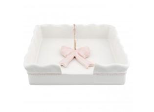 Držák na ubrousky Pink Bow Knot - 17*17*4 cm