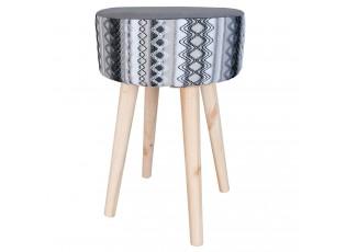 Šedá stolička - 36*30*45 cm