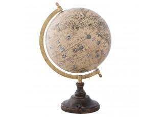 Glóbus se starou mapou na dřevěném podstavci - 22*20*33 cm