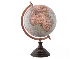 Glóbus s barevnou mapou na dřevěném podstavci - 22*20*33 cm