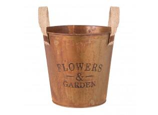 Kovový kvetináč - Ø 18*18 cm