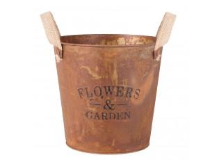 Kovový kvetináč - Ø 19*19 cm