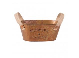 Kovový kvetináč - 21*9*16 cm