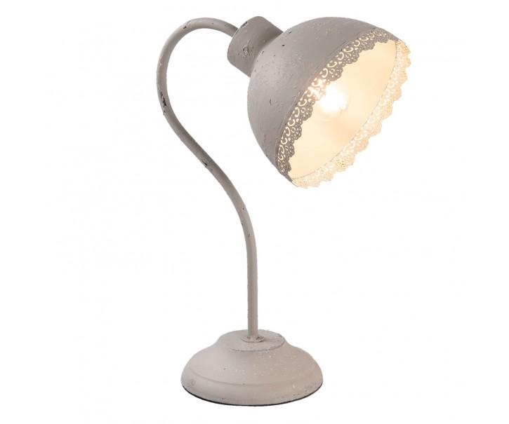 Šedá stolní lampa Ancient - 15*25*35 cm