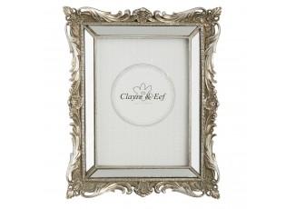 Fotorámeček stříbrný antique s ornamenty - 20*3*25 cm / 13*18 cm