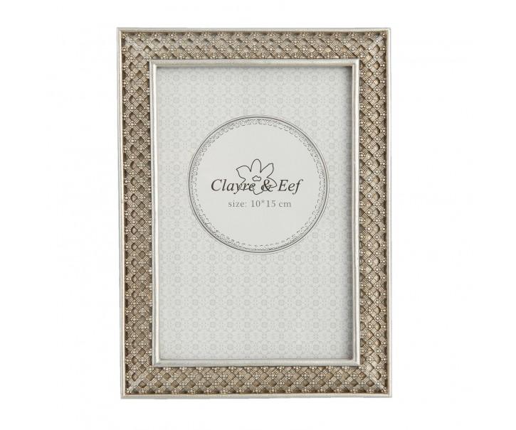 Fotorámeček stříbrný antique s ornamenty - 13*1*18 cm / 10*15 cm