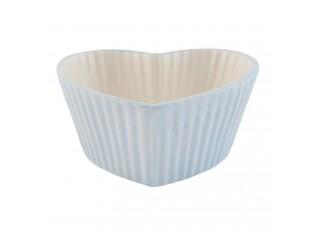 Modrá mistička srdce Happy Cupcake - 11*11*5 cm / 0,15 L