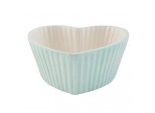 Zelená mistička srdce Happy Cupcake - 11*11*5 cm / 0,15 L