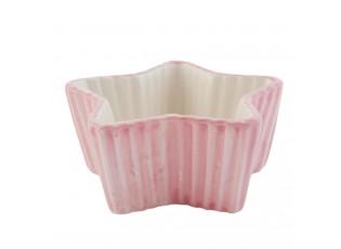 Růžová mistička hvězda Happy Cupcake - 12*11*5 cm / 0,1 L