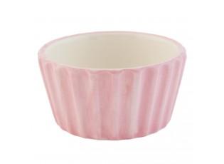 Růžová mistička Happy Cupcake - Ø 9*5 cm / 0,1 L