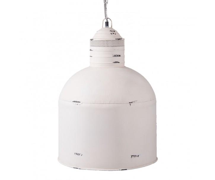 Bílé závěsné světlo - Ø 39*56 cm