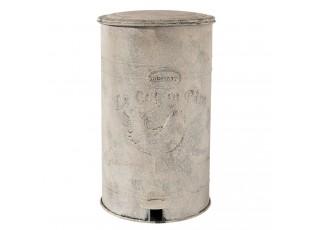 Bílý retro odpadkový koš s kohoutem - 26*30*46 cm
