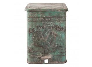 Zelený retro odpadkový koš s kohoutem - 26*30*35 cm / 15L