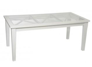 Jídelní stůl se skleněnou deskou - 180*90*7 cm