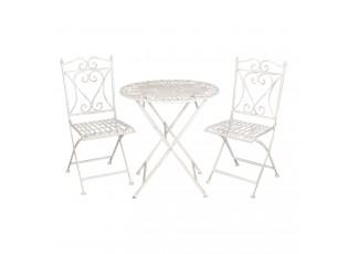 Zahradní skládací souprava - stůl + 2židle- Ø 70*75 cm
