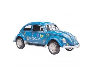 Modrý kovový model auta Brouk Julezee - 20*9*9 cm