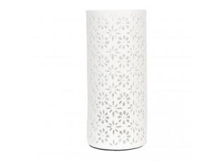 Keramická stolní lampa kytičky - Ø 12*28 cm / E27/max 1*30W