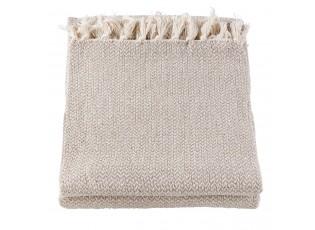 Béžový bavlněný pléd - 150*180 cm