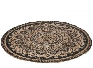 Jutový koberec MOSAIC - Ø 120 cm