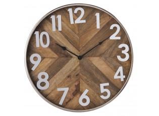 Dřevěné hodiny  - Ø 50*6 cm / 1*AA