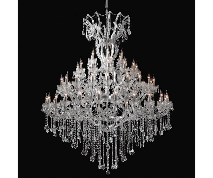 Křišťálový lustr - 200-270 * Ø170 cm