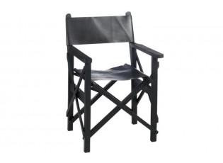 Režisérské křeslo skládací černé - 56*56*88 cm