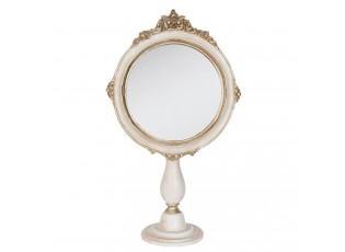 Stolní kosmetické zrcadlo bílé s patinou - 19*9*33cm