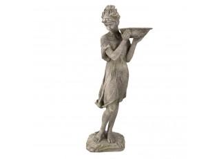 Zahradní dekorační socha s pítkem pro ptáčky - 32*30*77 cm