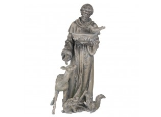 Zahradní dekorační socha s pítkem pro ptáčky - 36*34*72 cm