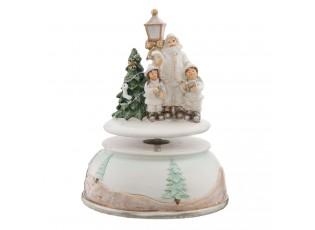 Hrací kolotoč Vánoce - Ø 11*15 cm