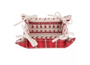 Textilní košíček na pečivo Nordic Christmas - 35*35*8 cm