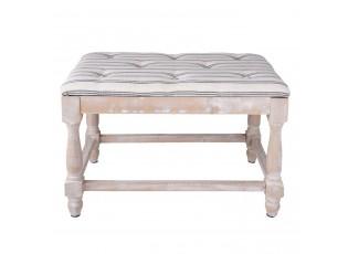 Dřevěná lavice s polstrováním  - 60*40*42 cm