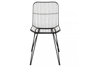Kovová černá židle Indiq - 42*55*83 cm