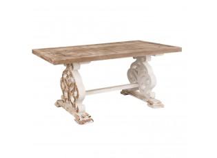 Dřevěný jídelní stůl Franciese s patinou - 180*90*82 cm