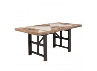Dřevěný jídelní stůl Marq s patinou - 168*89*75 cm