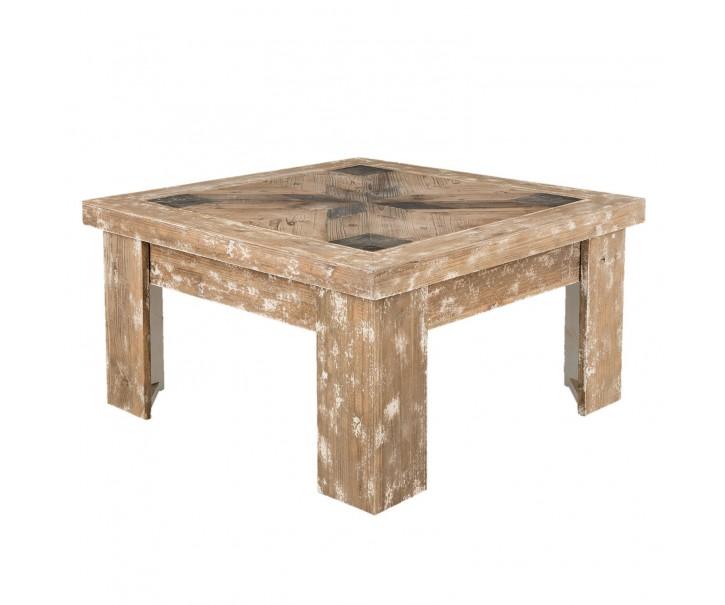 Dřevěný konferenční stolek Jacques s patinou - 90*90*50 cm