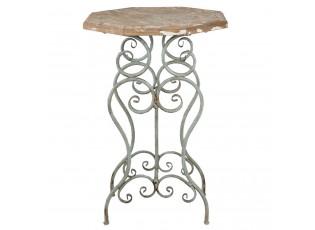 Odkládací stolek Julien s patinou - 60*60*85 cm
