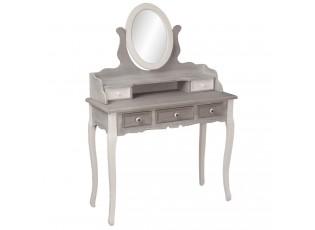 Dřevěná toaleka se zrcadlem  - 95*40*139 cm