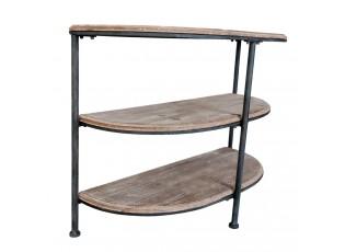 Odkládací stolek ke stěně Thierry s patinou - 87*36*66 cm