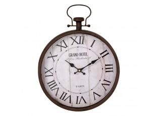 Kovové nástěnné hodiny Grand hotel - 30*6*40 cm