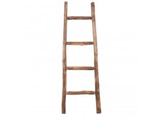 Dřevěný hnědý  věšák na ručníky žebřík - 43*4*120 cm