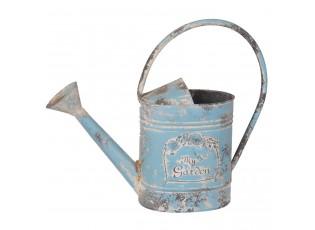 Modrá plechová konev My Garden - 37*11*31 cm / 2,25L