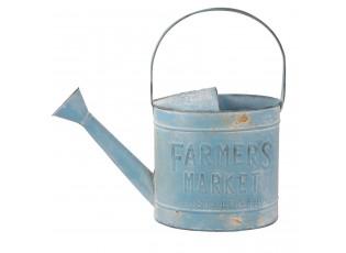Modrá plechová konev Farmers - 37*14*33 cm / 4L