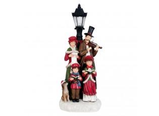 Vánoční sbor s LED lampou - 16*14*40 cm
