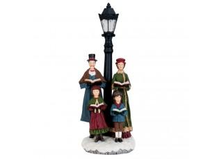 Vánoční sbor s LED lampou - 18*15*46 cm