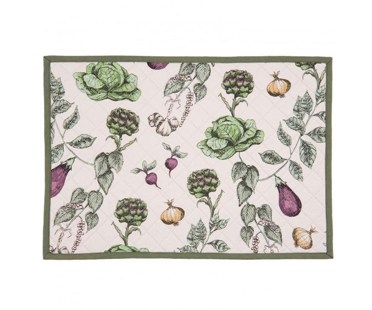Textilní prostírání The Kitchen Garden - 48*33 cm - sada 6ks