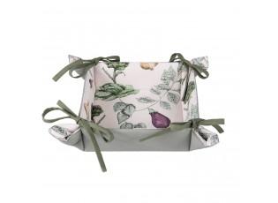 Textilní košíček na pečivo The Kitchen Garden - 35*35*8 cm